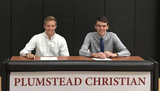 "<span style=""overflow: hidden; float: left; width: 360px;"">Seniors Luke Brautigam (Left) and Kyle Elton (Right), will be attending Messiah College next fall.  </span> <span id=""fa_link"" style=""float: left; text-align: center; width: 151px; height: 22px;""><a href=""/article/content/pair-plumstead-christian-panthers-headed-messiah-college""><img src=""/profiles/s1s/themes/s1s_classic/images/main_fullarticle.gif"" style=""position:relative;""/></a></span>"